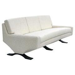 Rare Italian Modern Franz T. Sartori for Flexform Three Seater Sofa