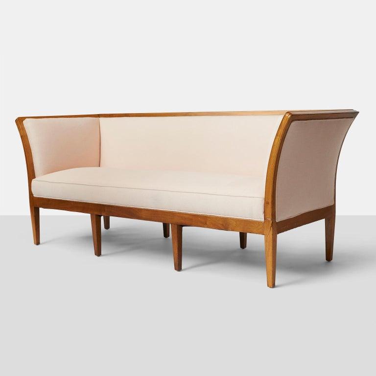 Scandinavian Modern Rare Jacob Kjaer Sofa with 8 Tapered Legs For Sale