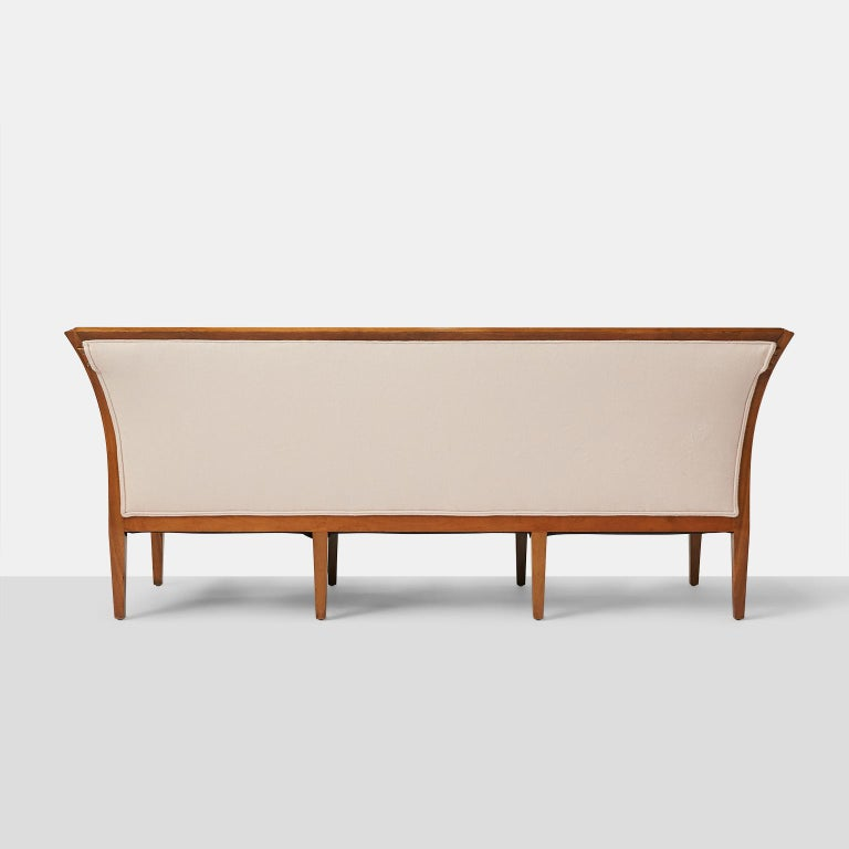 Mid-20th Century Rare Jacob Kjaer Sofa with 8 Tapered Legs For Sale