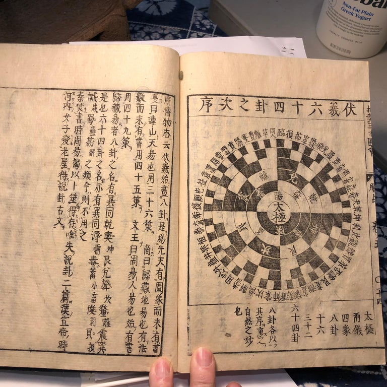 Japanese Feng Shui Antique Woodblock Book Wind Water Frameable Prints For Sale 6