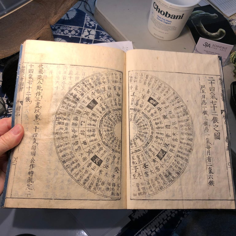 Japanese Feng Shui Antique Woodblock Book Wind Water Frameable Prints For Sale 10