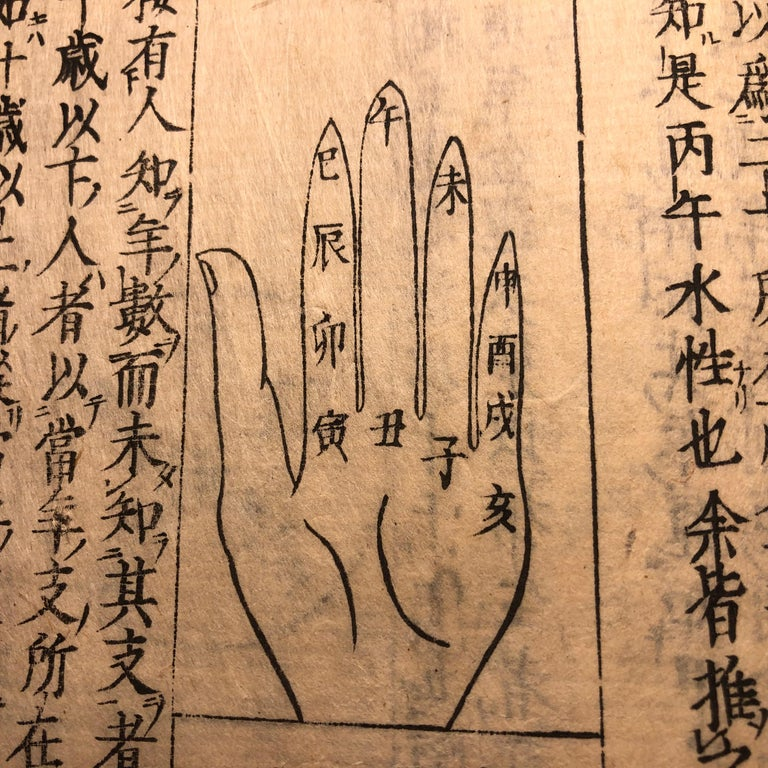 Paper  Japanese Feng Shui Antique Woodblock Book Wind Water Frameable Prints For Sale