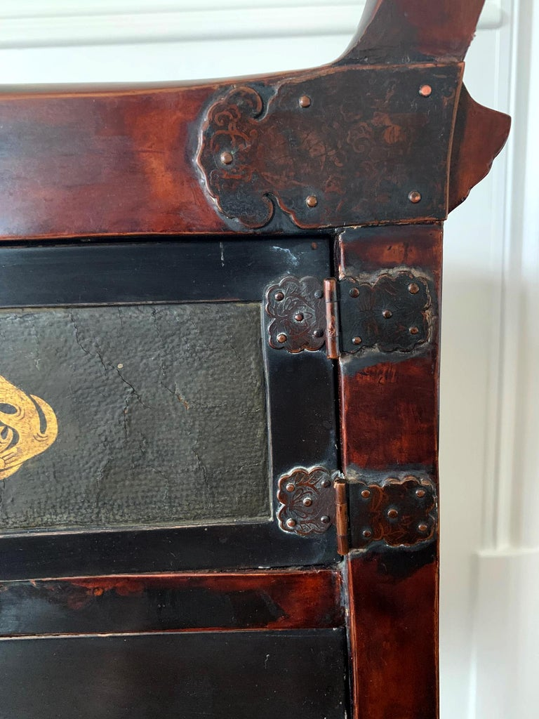 Rare Japanese Traveling Cabinet Oi Edo Period For Sale 6