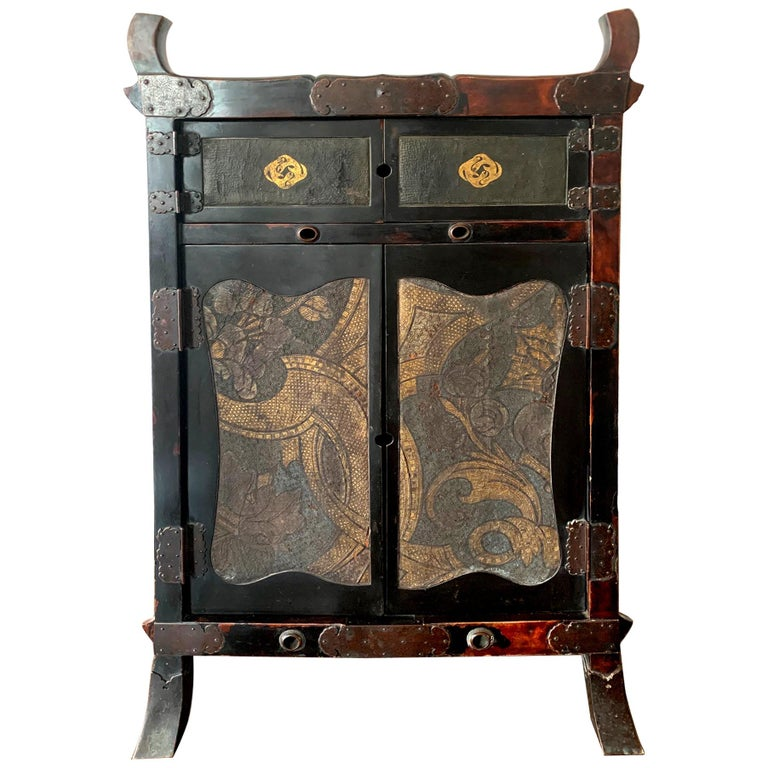 Rare Japanese Traveling Cabinet Oi Edo Period For Sale