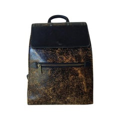 """Rare Gaultier Novelty Leather Antique Inspired labeled Gaultier """"BOOK"""" Backpack"""