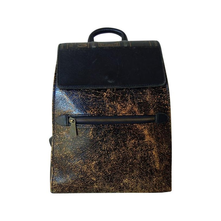 "Rare Gaultier Novelty Leather Antique Inspired labeled Gaultier ""BOOK"" Backpack For Sale"