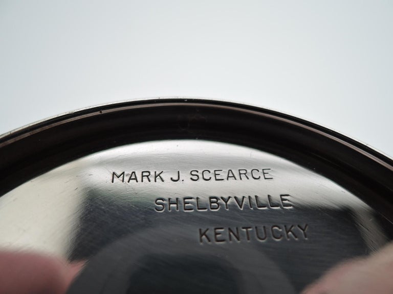 Rare JFK-Era Sterling Silver Mint Julep Cup by Scearce of Kentucky In Excellent Condition For Sale In New York, NY