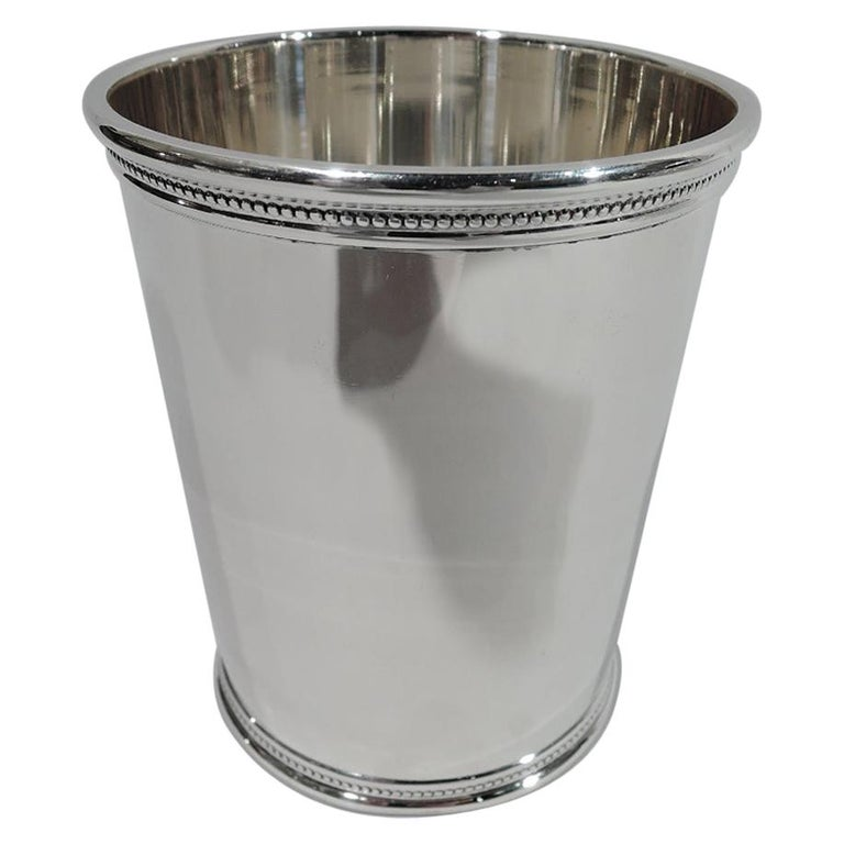 Rare JFK-Era Sterling Silver Mint Julep Cup by Scearce of Kentucky For Sale