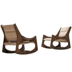 Rare Jordi Vilanova Pair of'Tartera' Rocking Chairs