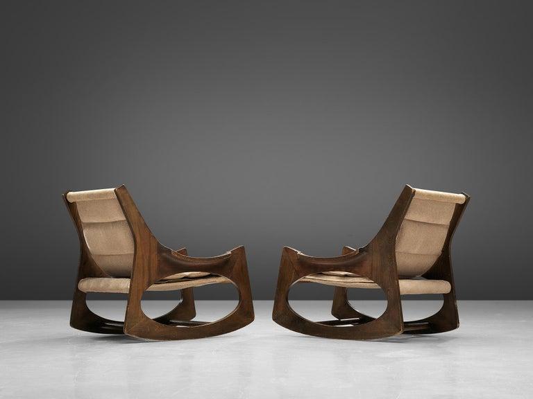 Mid-Century Modern Rare Jordi Vilanova'Tartera' Rocking Chairs For Sale