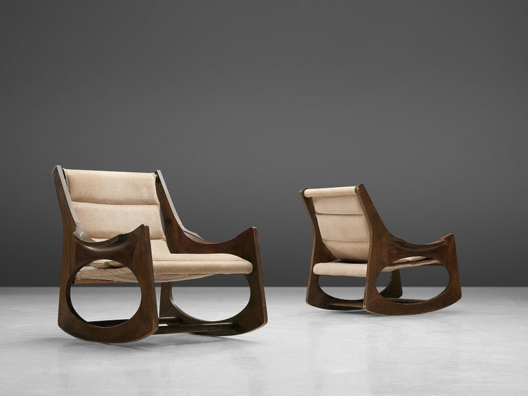 Spanish Rare Jordi Vilanova'Tartera' Rocking Chairs For Sale