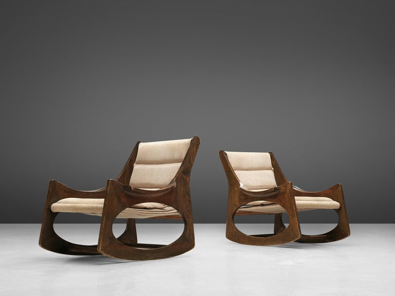 Rare Jordi Vilanova'Tartera' Rocking Chairs In Good Condition For Sale In Waalwijk, NL