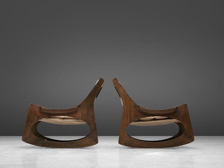20th Century Rare Jordi Vilanova'Tartera' Rocking Chairs For Sale