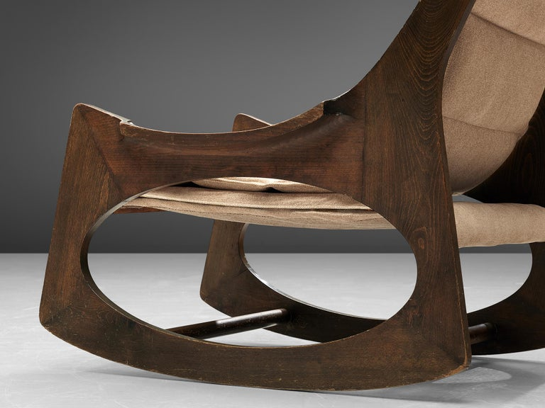 Beech Rare Jordi Vilanova'Tartera' Rocking Chairs For Sale