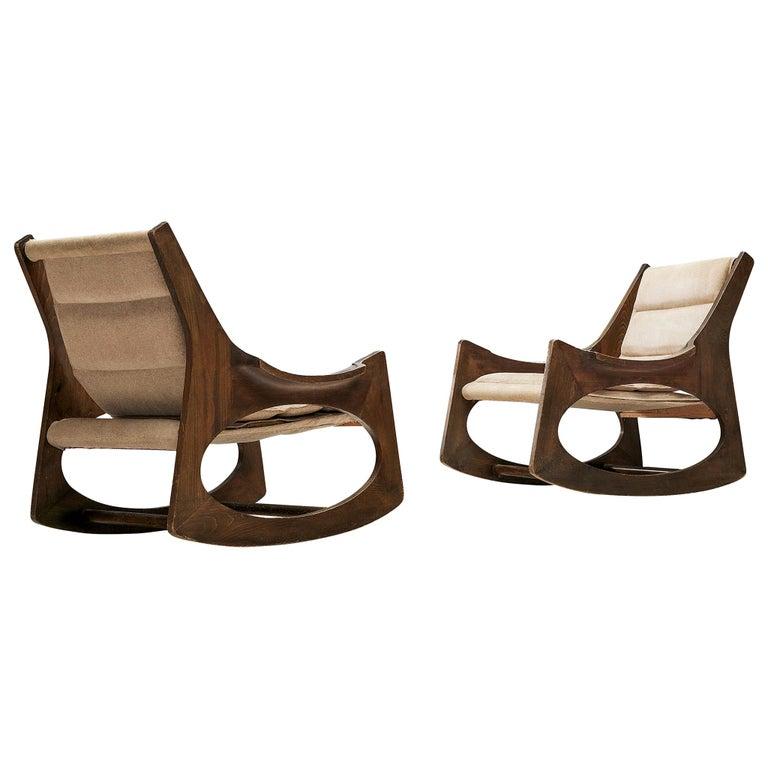 Rare Jordi Vilanova'Tartera' Rocking Chairs For Sale