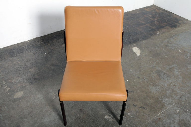 Mid-20th Century Rare Jorge Zalszupin Rosewood Framed Brazilian Dining Chair For Sale