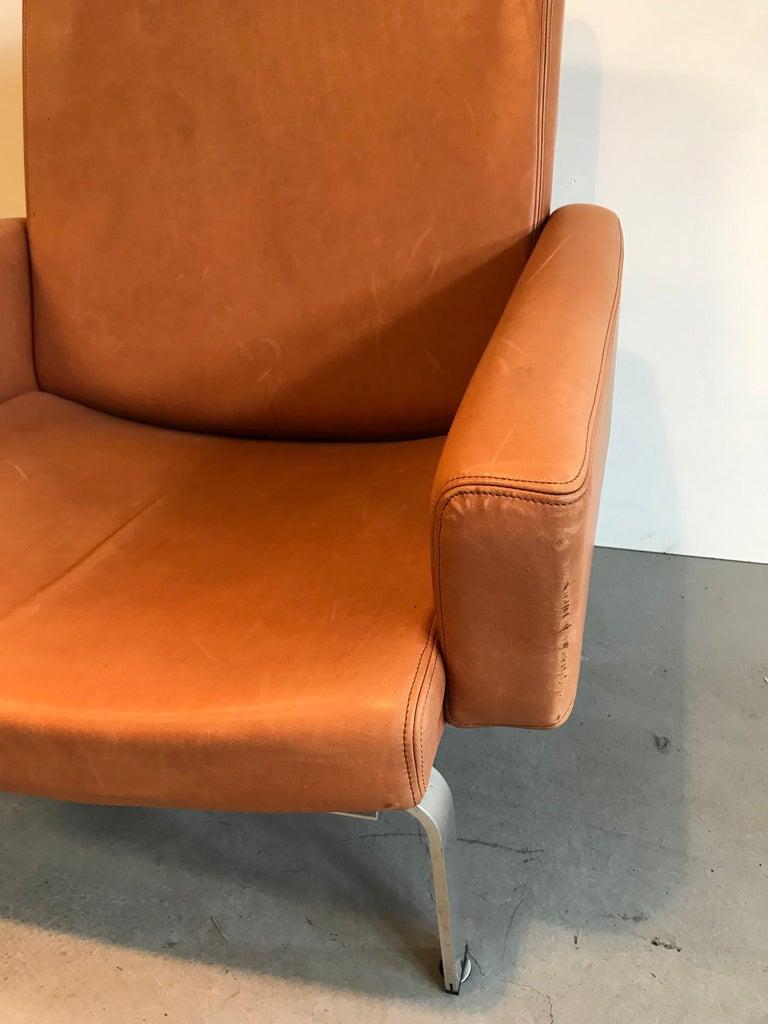Rare Jorgen Hoj Lounge Chair Vitsoe Design In Good Condition For Sale In Heesch, NL