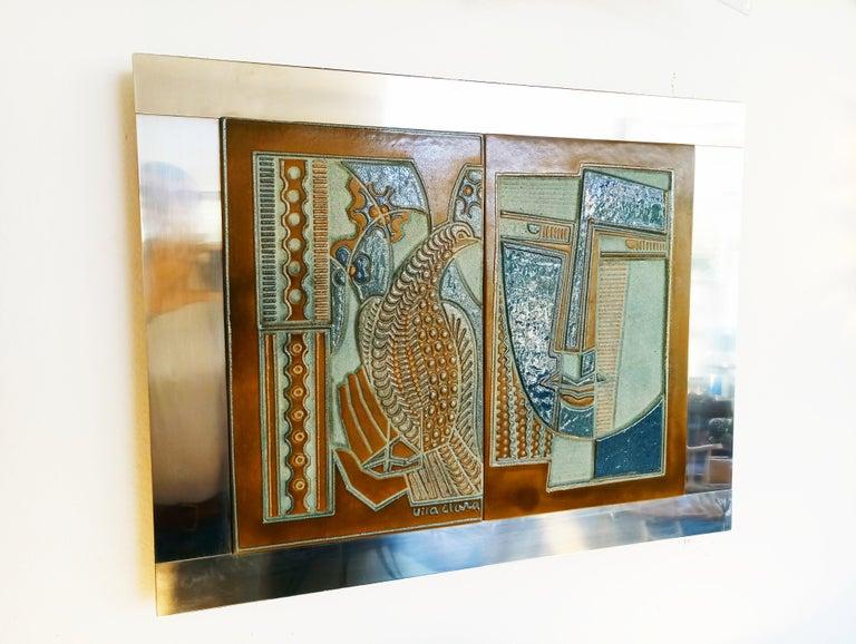 Rare Josep Vilà Clara Garriga Ceramics Painting, Spain, 1970s For Sale 5
