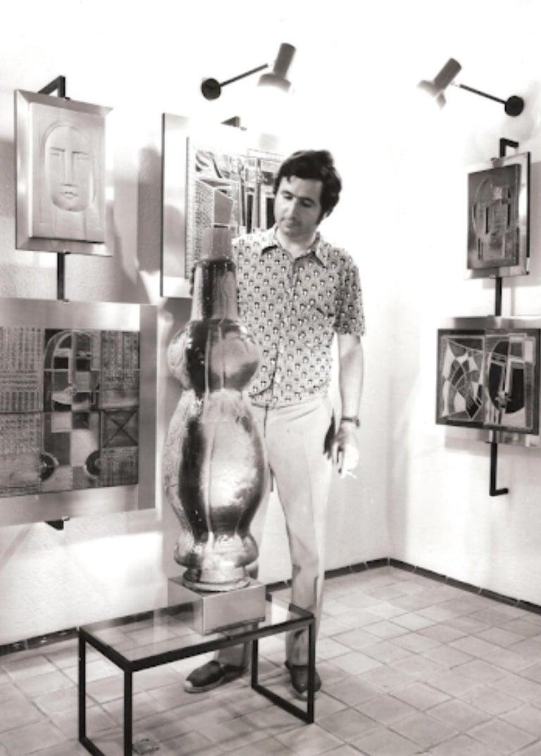 Rare Josep Vilà Clara Garriga Ceramics Painting, Spain, 1970s For Sale 4