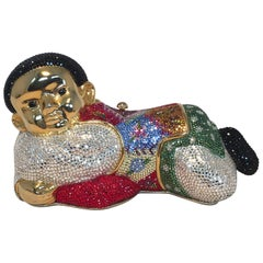 Rare Judith Leiber Sleeping Boy Swarovksi Crystal Minaudiere