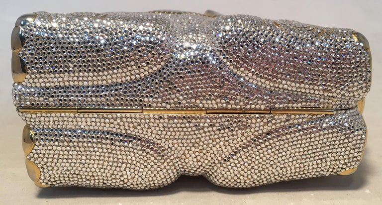 Women's RARE Judith Leiber Swarovski Crystal Elephant Minaudiere Evening Bag Clutch For Sale