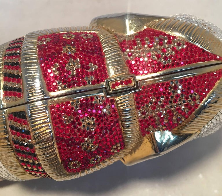 RARE Judith Leiber Swarovski Crystal Elephant Minaudiere Evening Bag Clutch For Sale 1