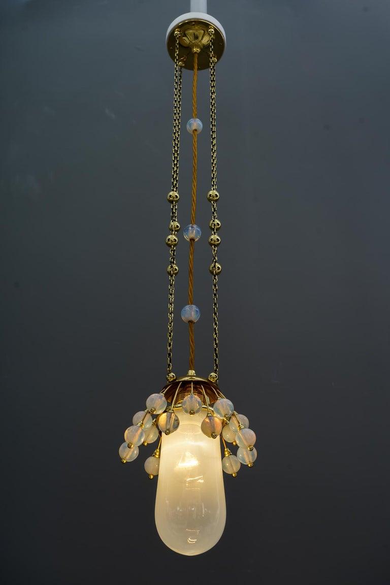 Rare Jugendstil Pendant, Vienna, 1910s For Sale 4