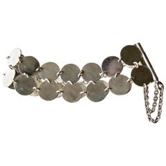 Rare Kalevala Koru Sterling Silver Finnish Modernist Chain Maille Bracelet, 1968