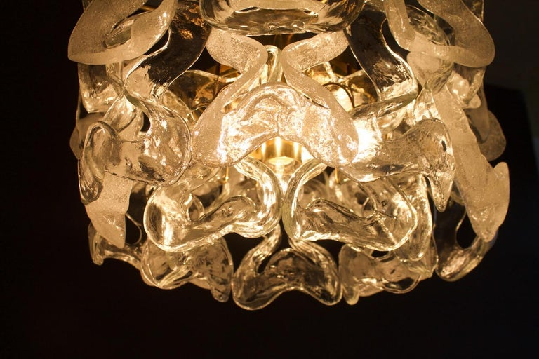 Rare Kalmar Austria Catena Chandelier in Brass and Glass, 1960s For Sale 4