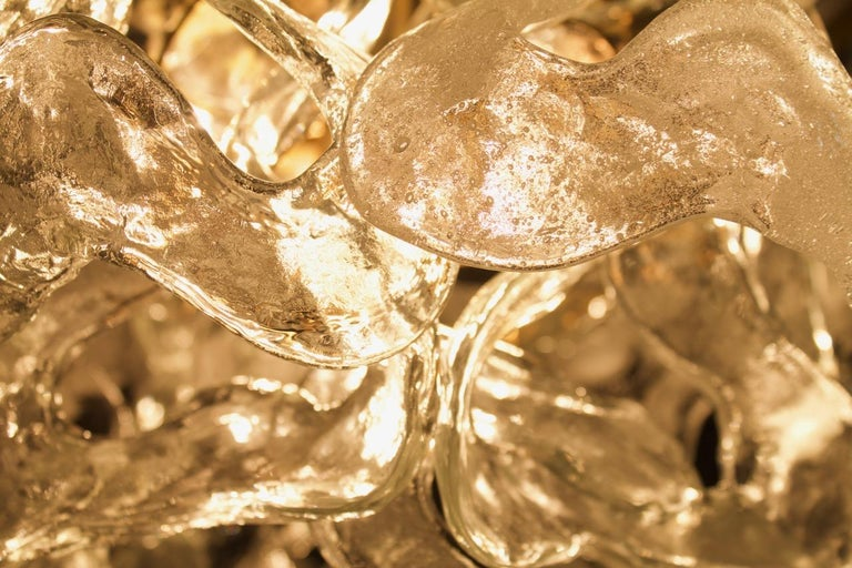 Austrian Rare Kalmar Austria Catena Chandelier in Brass and Glass, 1960s For Sale