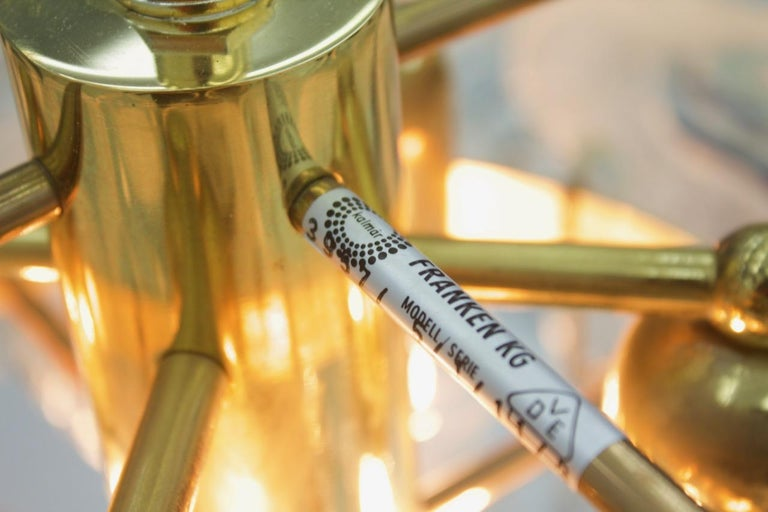 Rare Kalmar Austria Catena Chandelier in Brass and Glass, 1960s In Good Condition For Sale In Frankfurt / Dreieich, DE