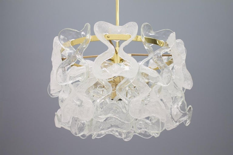 Rare Kalmar Austria Catena Chandelier in Brass and Glass, 1960s For Sale 1