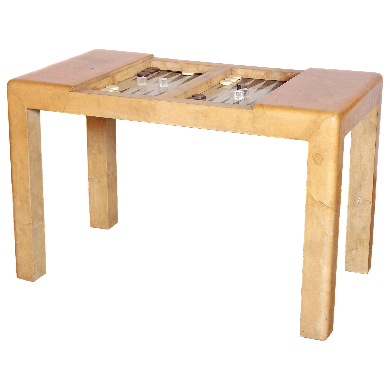 Rare Karl Springer Backgammon Table