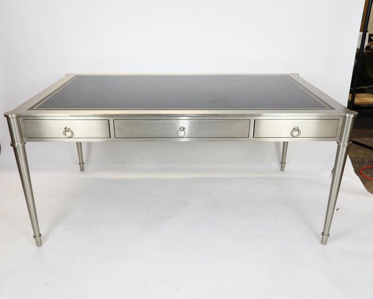 Rare Karl Springer Custom Designed Desk In Good Condition For Sale In West Palm Beach, FL