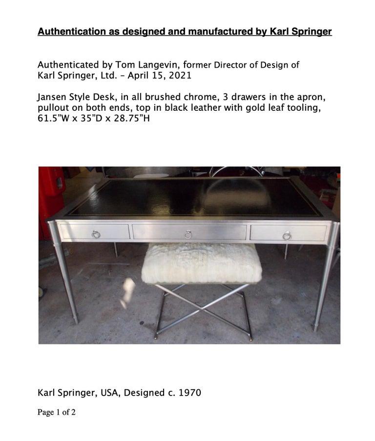 Rare Karl Springer Custom Designed Desk For Sale 1