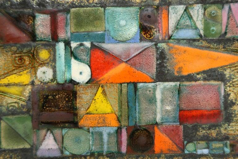 American Rare Kay Whitcomb Enamel on Copper Plaque