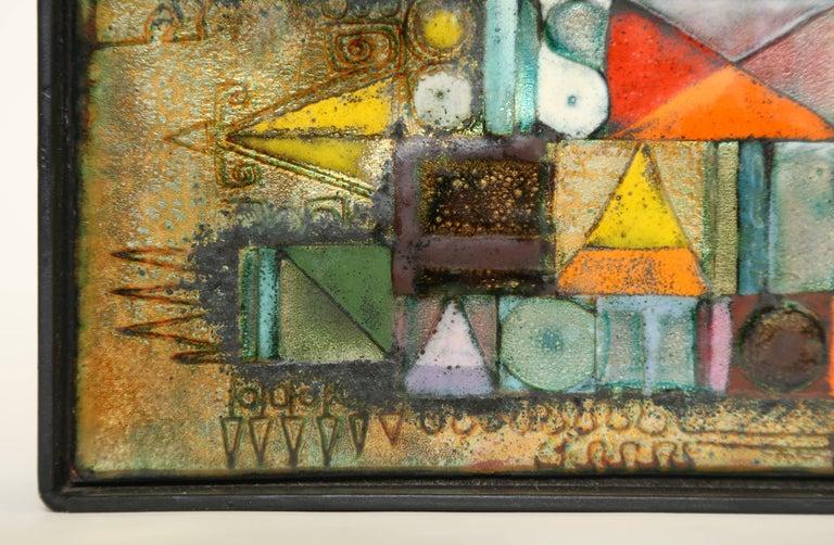 Late 20th Century Rare Kay Whitcomb Enamel on Copper Plaque