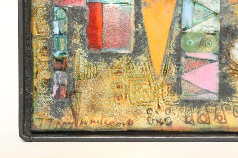 Rare Kay Whitcomb Enamel on Copper Plaque 1