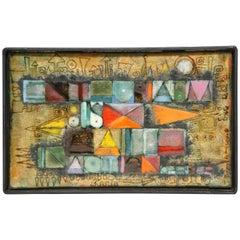 Rare Kay Whitcomb Enamel on Copper Plaque