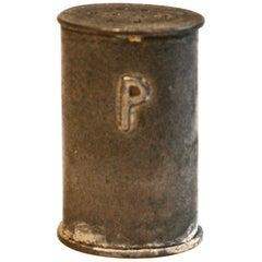 Rare K.E.M. Weber 'Attributed Pewter' Pepper Shaker for Porter Blanchard