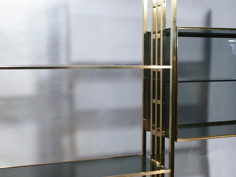 Rare Kim Moltzer French Lacquer and Brass Shelves, 1970s 7