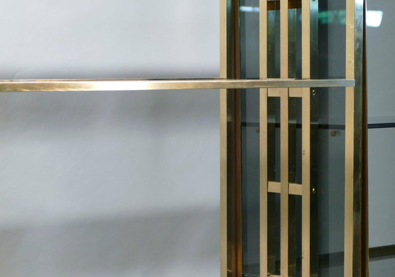Rare Kim Moltzer French Lacquer and Brass Shelves, 1970s 8