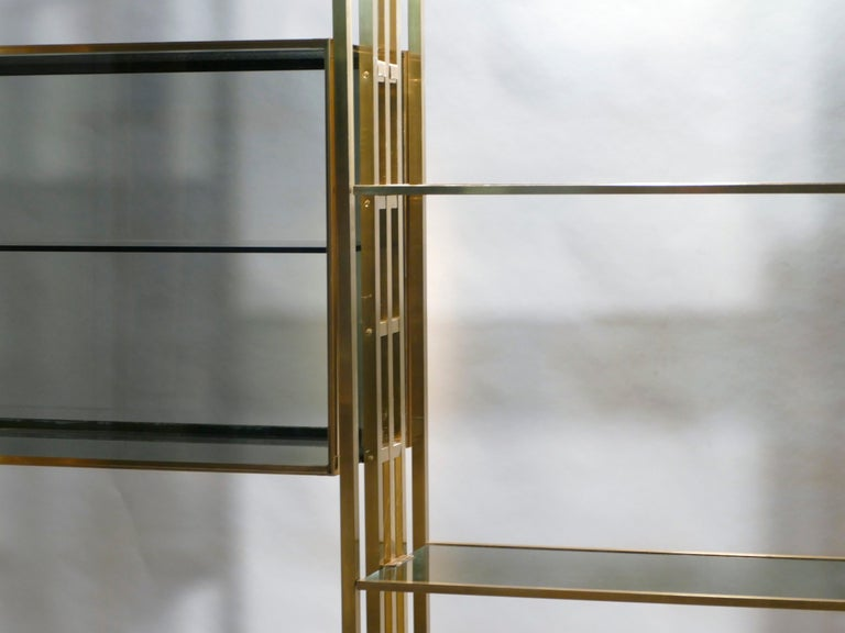 Rare Kim Moltzer French Lacquer and Brass Shelves, 1970s 9