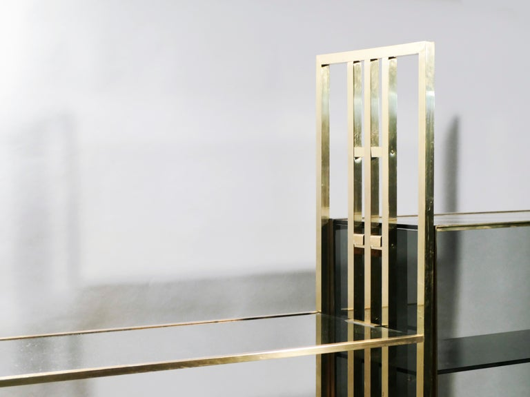 Rare Kim Moltzer French Lacquer and Brass Shelves, 1970s 10