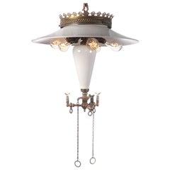 Rare Klemm Opal Cluster Reflector Lamp
