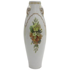 Rare KPM Berlin Porcelain Art Nouveau Vase with Gold and Enamel Painting