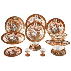 Rare Kutani Porcelain Dining Set
