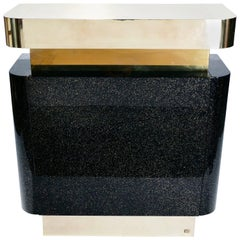 Rare Lacquer and Brass Bar J.C. Mahey, 1970s