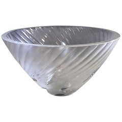 """Rare Lalique """"Borea"""" Frosted and Clear Crystal Bowl"""