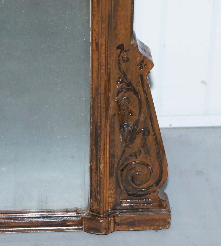 19th Century Rare Lambs of Manchester Aesthetic Movement Mercury Glass Mirror For Sale